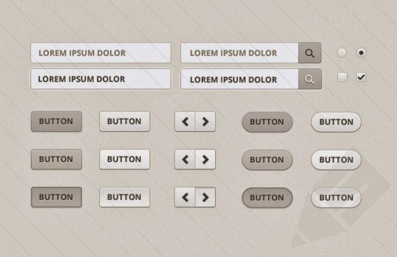 Beige Web Elements UI Kit