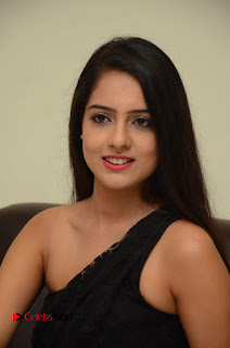 Telugu Cinema Actress Malvi Malra Pictures in Black Dress  0070.JPG