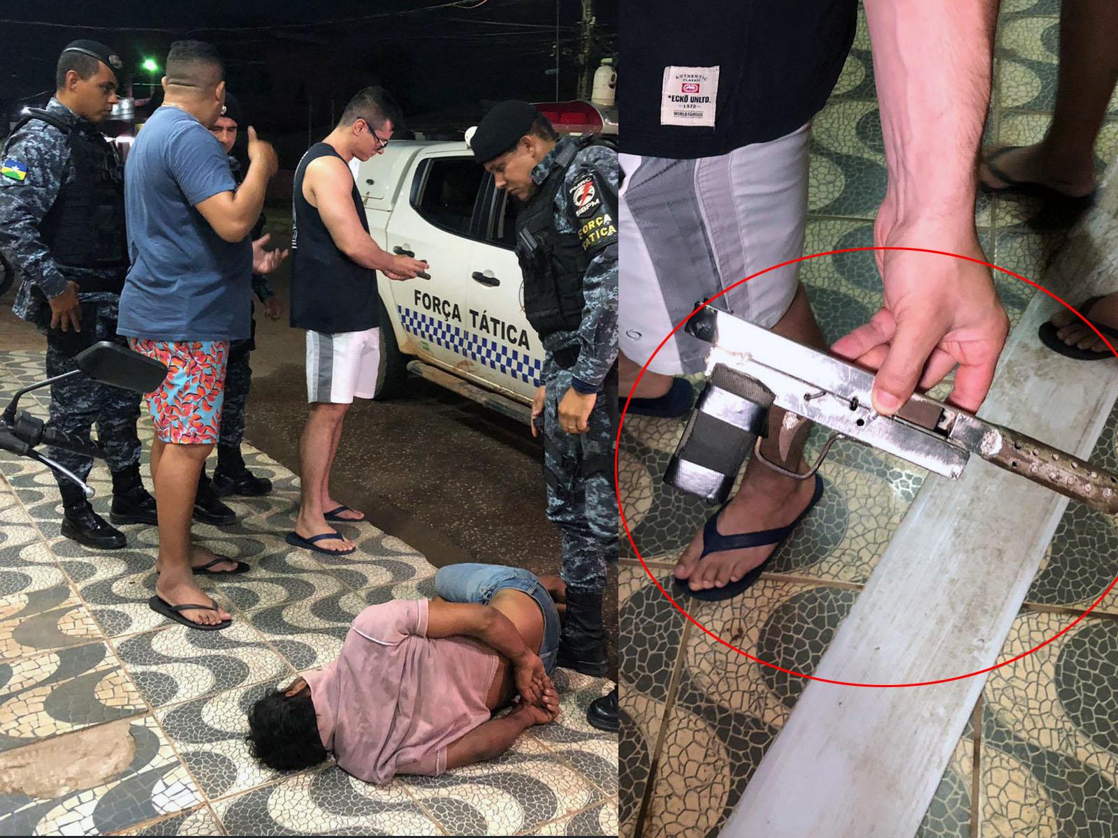 Ladrão leva cadeirada durante assalto em panificadora e acaba preso com arma caseira