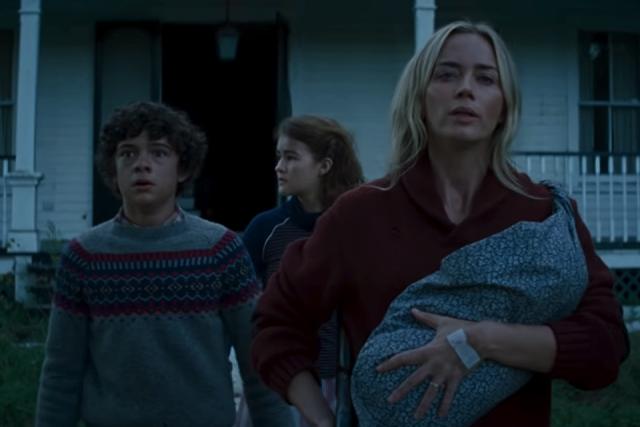 """Emily Blunt, Noah Jupe e Millicent Simmonds em """"Um Lugar Silencioso - Parte II"""""""
