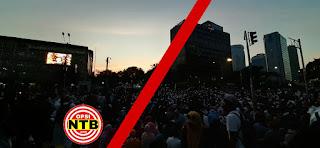 Aksi 22 Mei Ricuh, Gas Air Mata Polisi Disambut Solawat