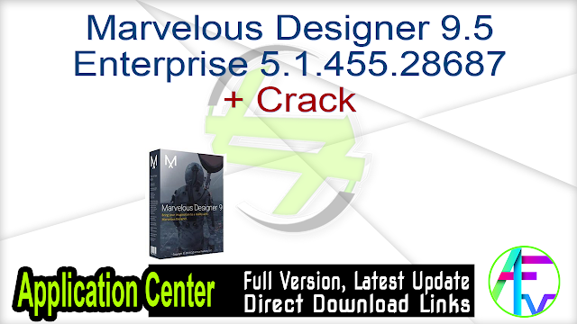 Marvelous Designer 9.5 Enterprise 5.1.455.28687 + Crack
