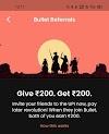 Bullet PayLater  Upi App Refer And Earn Offer  (₹200 Signup Bonus & ₹200 Per Refer)