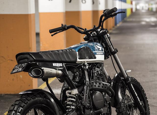 Honda NX650 By Hoxton Moto Hell Kustom