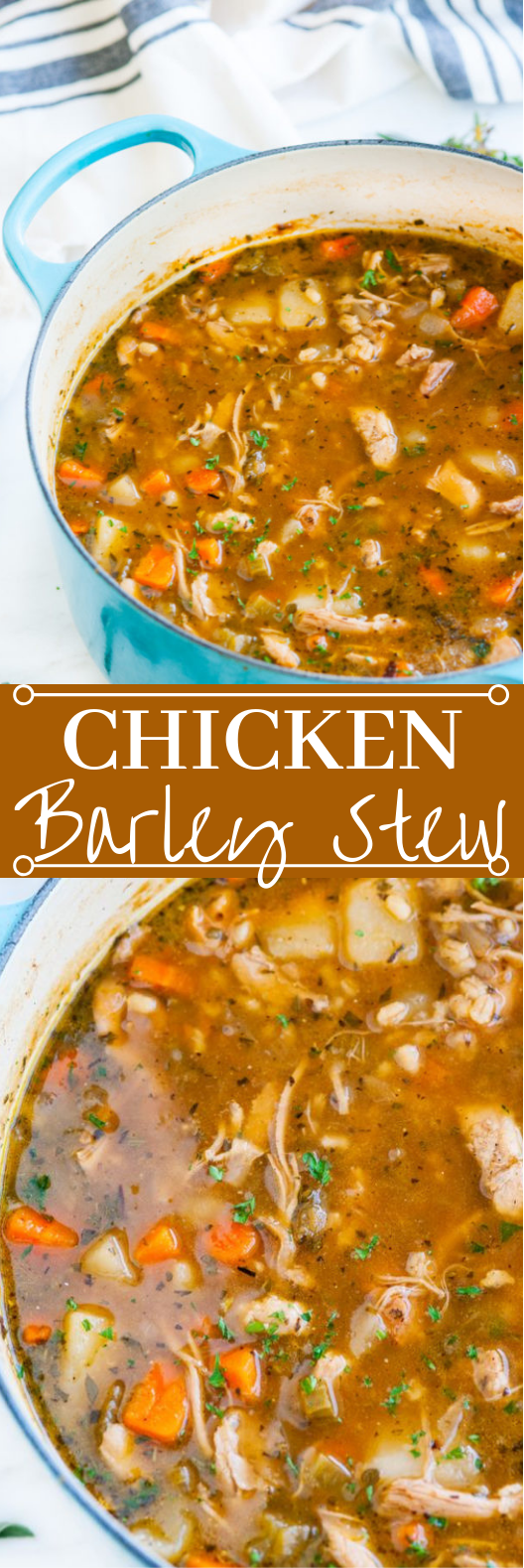 Chicken and Barley Stew #dinner #stew