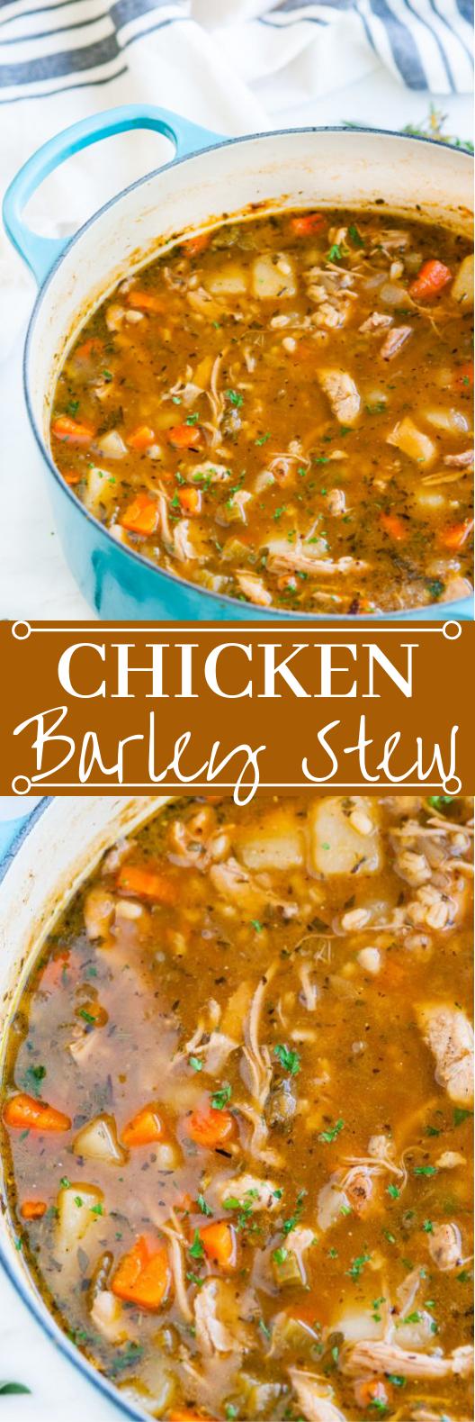 Chicken and Barley Stew #dinner #stew