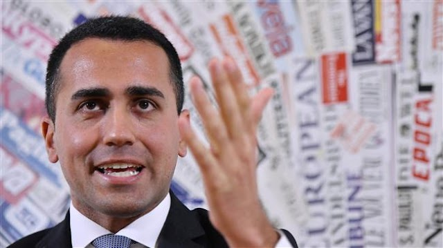 Italy's Five-Star Movement leader Luigi Di Maio calls for snap elections after coalition talks fail