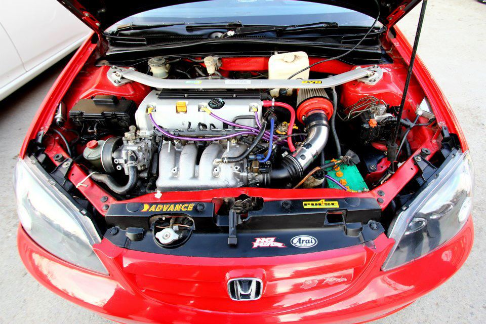 Modified Cars Red Honda Civic I Vtec Modified
