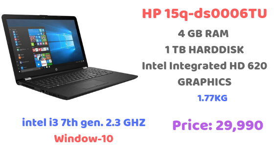 Best laptop under 30, 000 HP 15q-ds0006TU