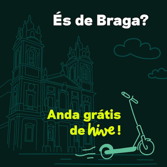 Hive oferece viagens gratuitas em Braga