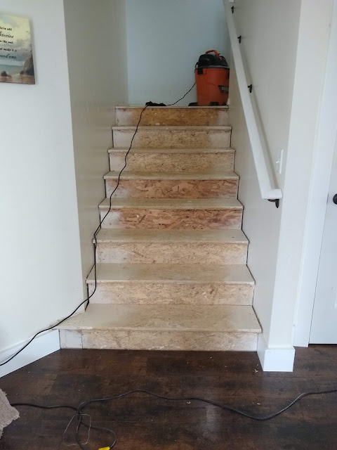 OSB covered stairway