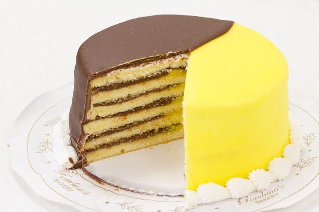 шоколадно-лимонный торт картинка