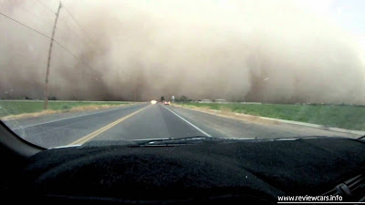 driving During a dust storm