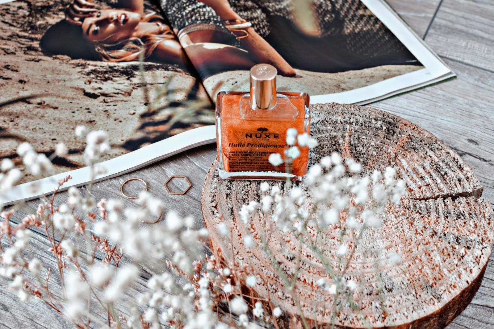 Multifunkcyjny suchy olejek z brokatem do twarzy, ciała i włosów
