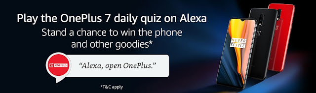 Chance to win the OnePlus 7 smartphone from Amazon: Here is how