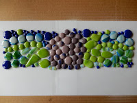 Testing the mosaic design on paper