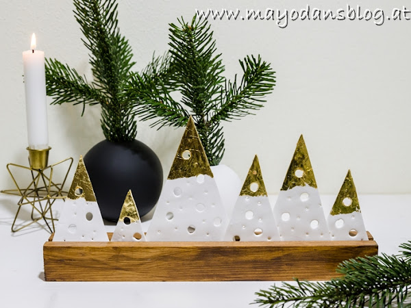 Erster Adventsonntag 2019 und eine wunderschöne DIY-Weihnachtsdeko aus Holzleisten und Modelliermasse