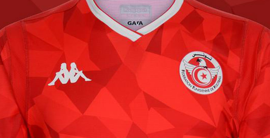 13a55d330 ... new Tunisia 2019 AFCON jersey. The new Kappa Tunisia kit is set to be  debuted in the final Africa Cup of Nations qualifiers