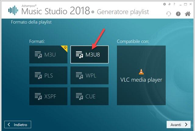 formati della playlist