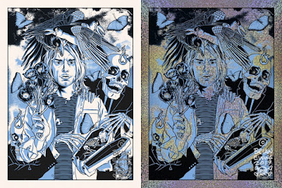 """Heart Shaped Box"" Kurt Cobain Tribute Art Print by Brian Ewing"