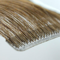 Injection tape-in hair extensions