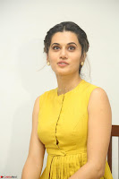 Taapsee Pannu looks mesmerizing in Yellow for her Telugu Movie Anando hma motion poster launch ~  Exclusive 013.JPG