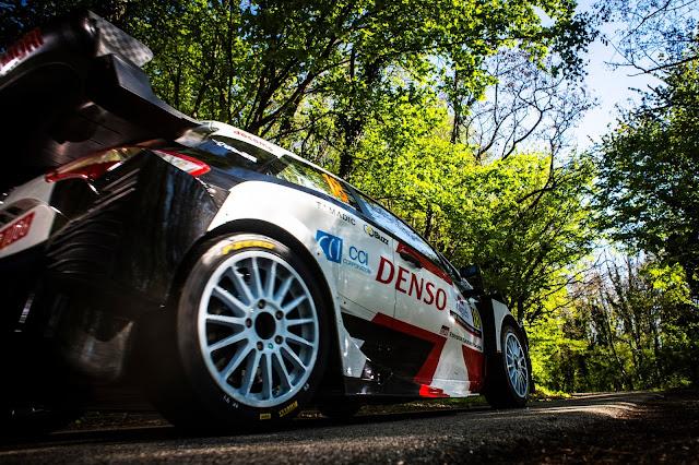 Toyota rally racing car