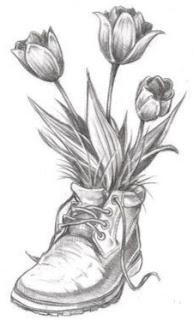 Sketsa Bunga Keren