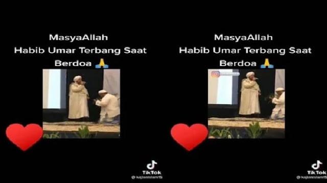 Viral Habib Umar Terbang saat Berdoa
