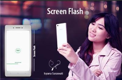 Cara Memaksimalkan Kamera Selfie Oppo screen flash