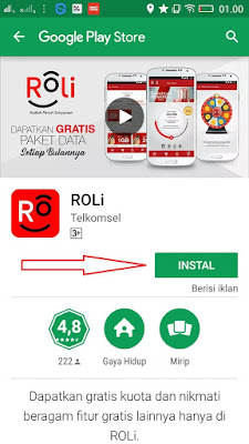 Cara Download Aplikasi Roli Telkomsel