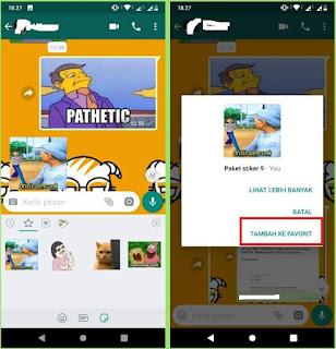 Cara Copy Stiker Yang Dikirim Teman di WhatsApp
