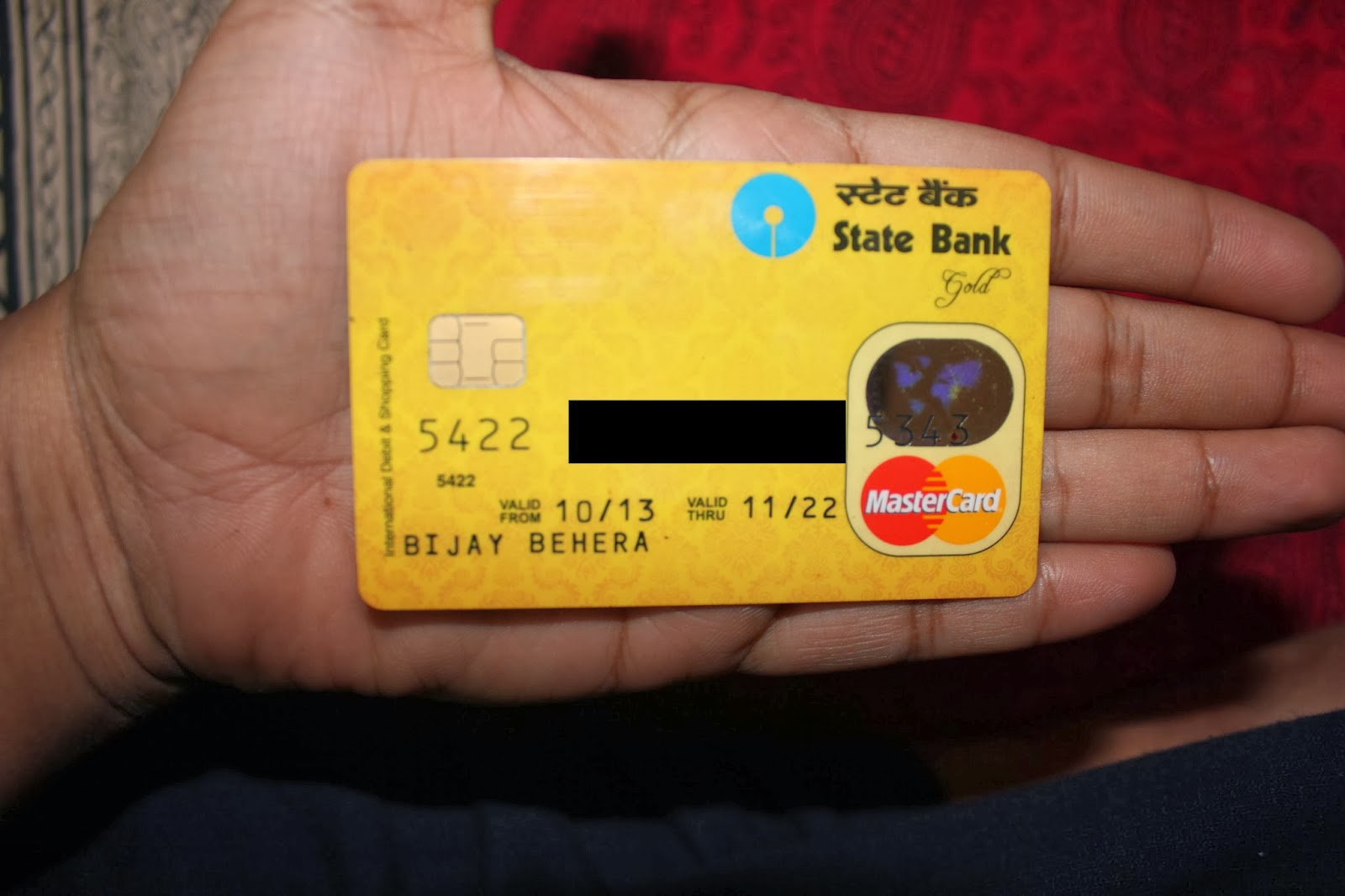 debit card of state bank of india