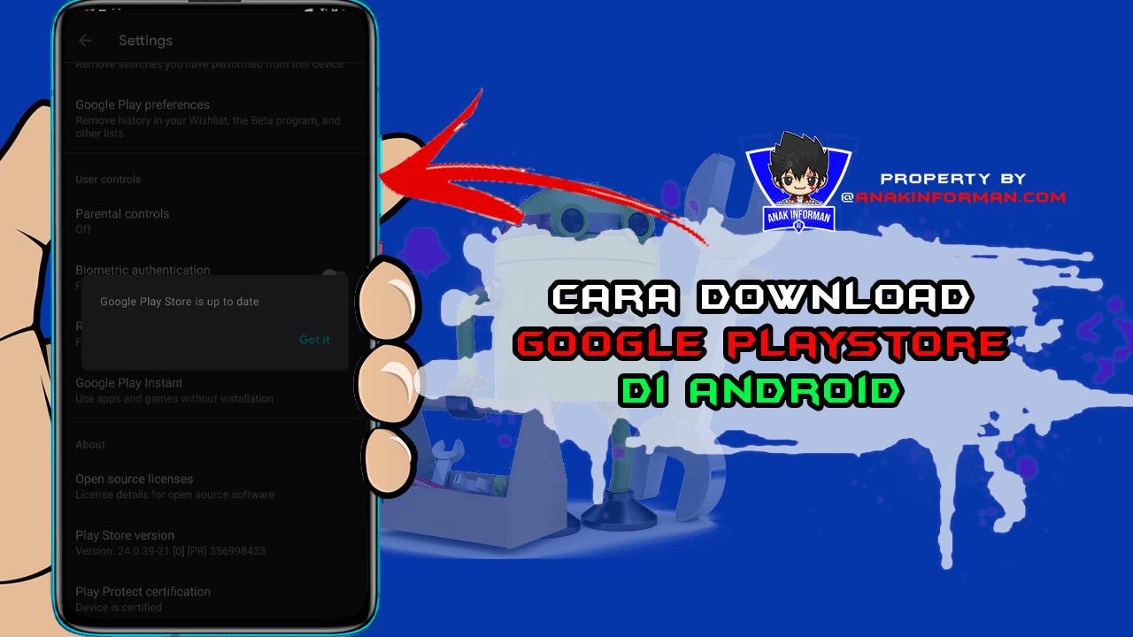Cara Mendownload Google Play Store