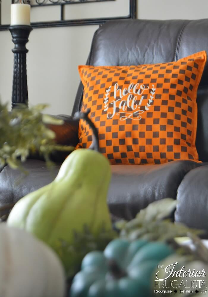 Checkered Fall Pillow Cover