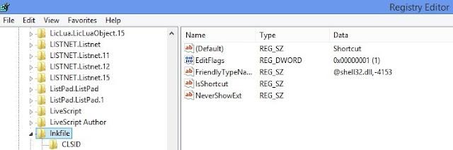 Tips Laptop: Cara Menghilangkan Tanda Panah Shortcut di Desktop Windows 7/8/10 Menggunakan Registry Editor
