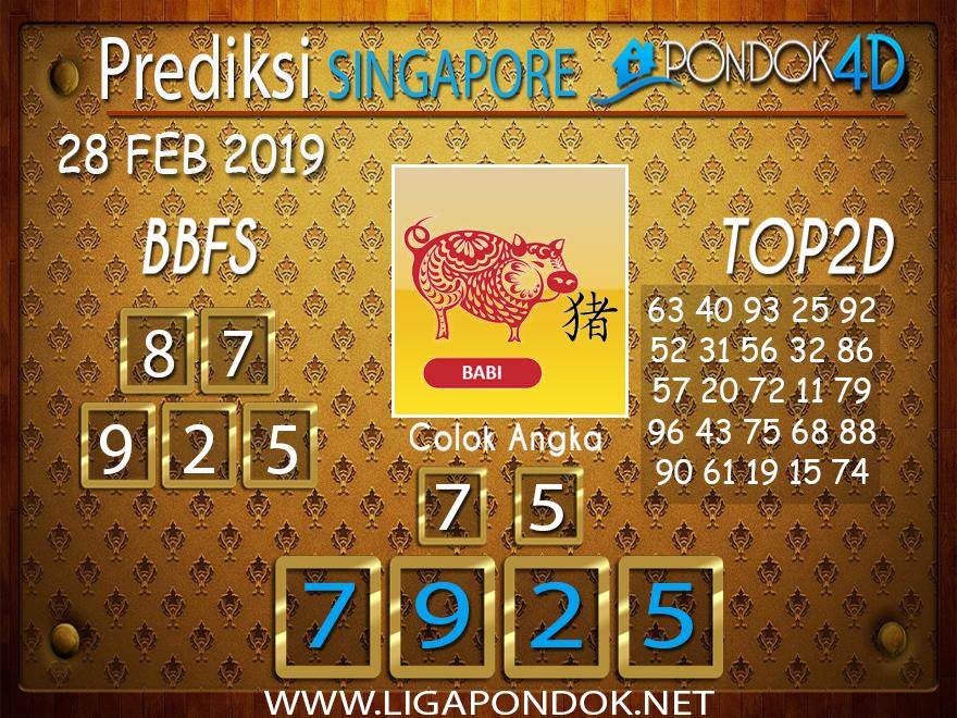 Prediksi Togel SINGAPORE PONDOK4D 28 FEBRUARI 2019