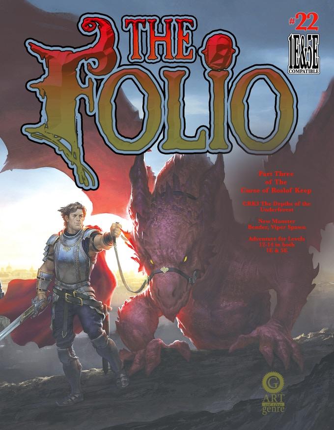 Tenkar's Tavern: Kickstarter - The Folio #22 (1E/5E D&D Adventure)