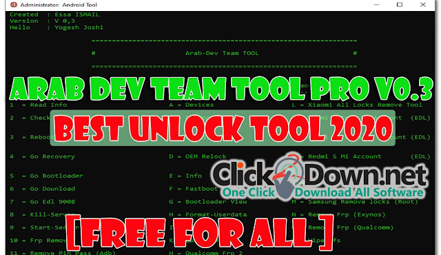 Arab Dev Team Tool Pro v0.3 [Best Unlock Tool 2020]
