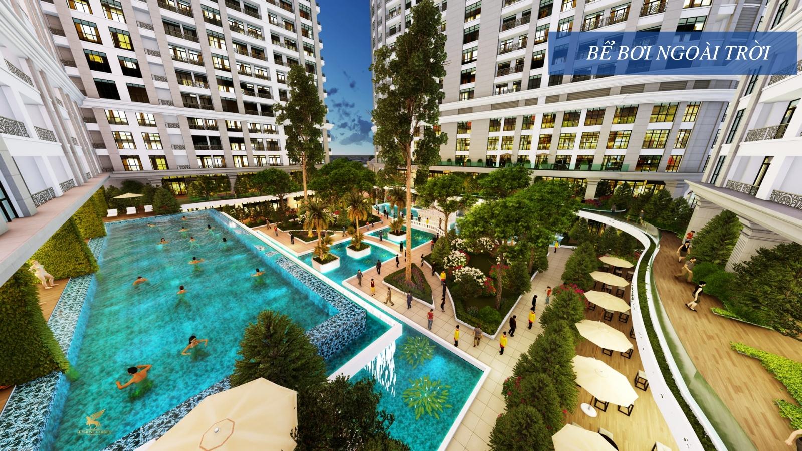 Bể bơi ngoài trời tiêu chuẩn 5 sao của Sunshine Garden