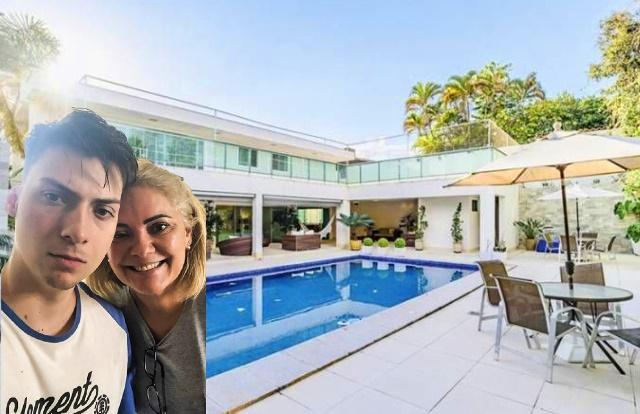 Mansão em Brasília alugada pela ex-mulher do presidente Jair Bolsonaro mãe do filho 04, Renan Bolsonaro.