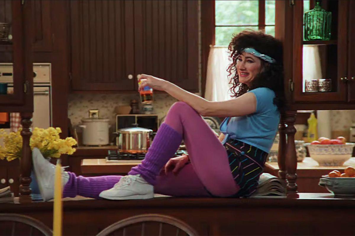 Kathryn Hahn como Agnes en los años 80 en Wandavision