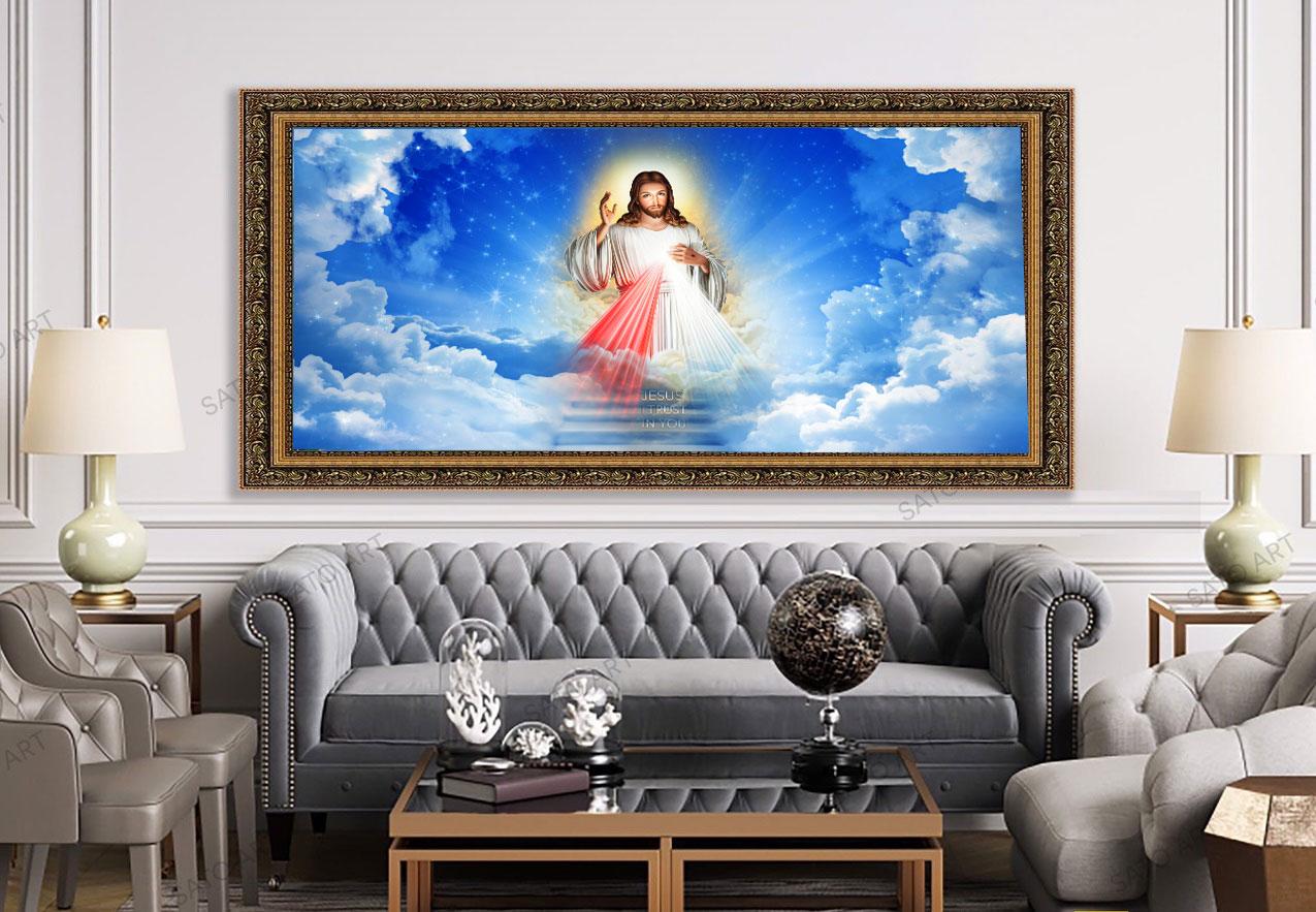 Tranh Treo Tường Khổ Lớn Chúa Giê Su Đẹp