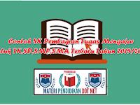 Contoh SK Pembagian Tugas Mengajar  untuk TK,SD,SMP,SMA Terbaru Tahun 2019/2020