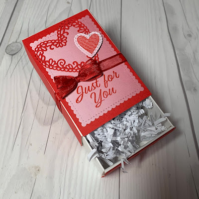 Valentine's Day Match Box Treat Box from Stampin' Up!