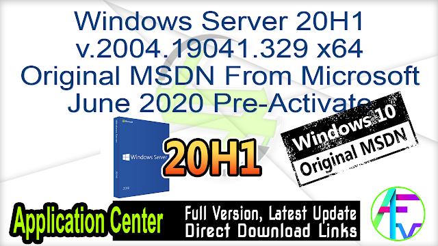 Windows Server RS5 v.1809.11763.1282 x64 Original MSDN From Microsoft June 2020