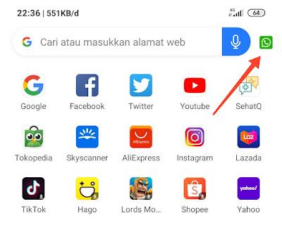 Simpan status WhatsApp dengan browser