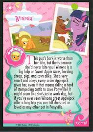 My Little Pony Winona Series 1 Trading Card