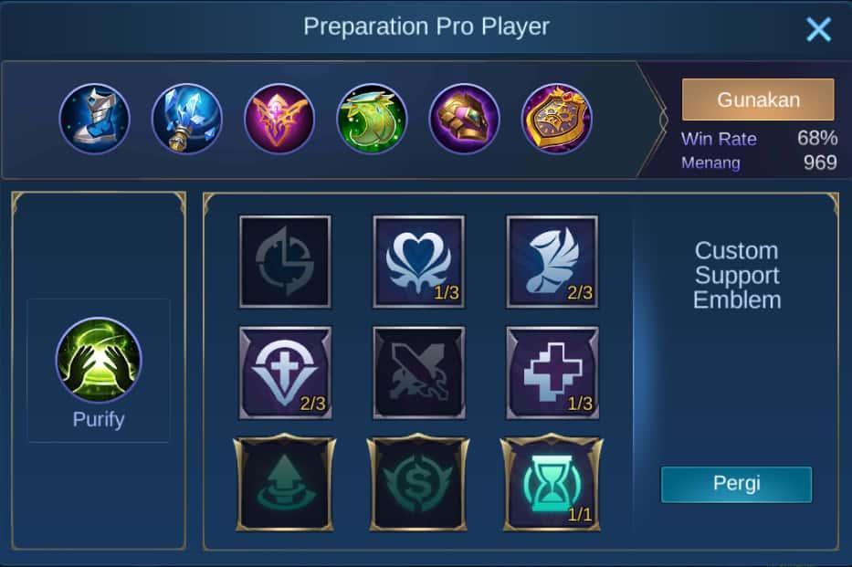 build item estes mobile legends (ML)
