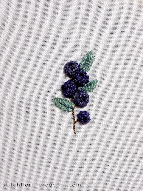 blueberry embroidery